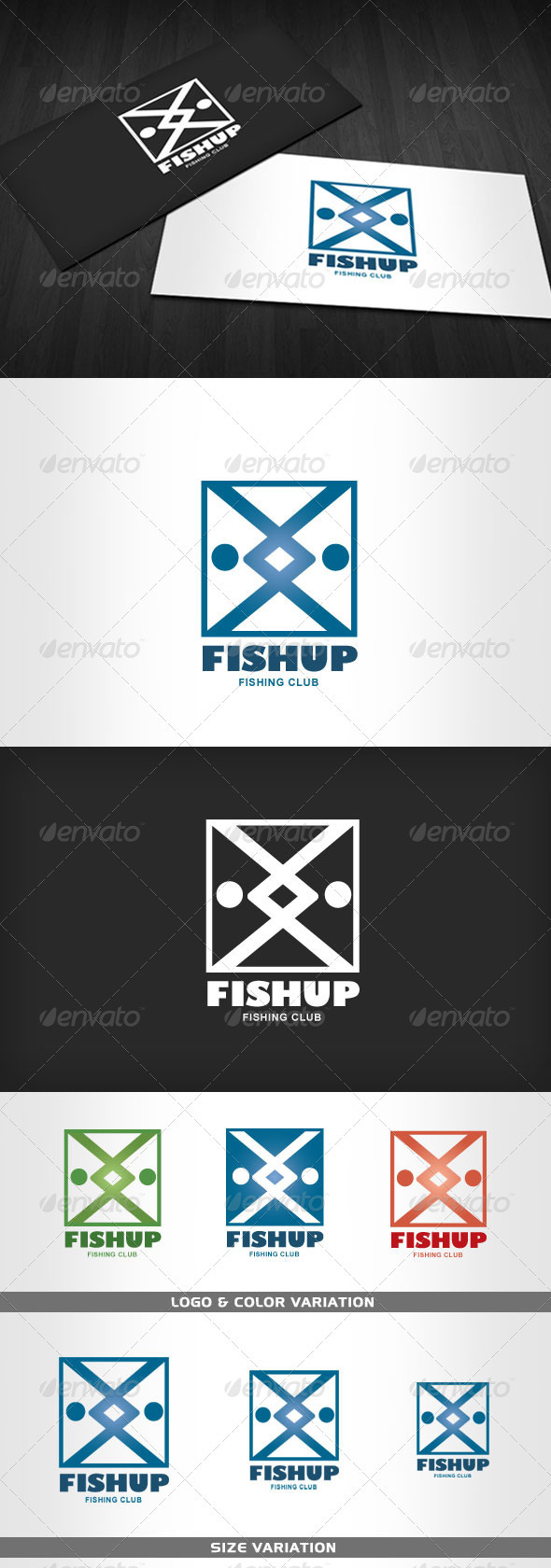 FISHUP - Fishing Club Logo - Animals Logo Templates