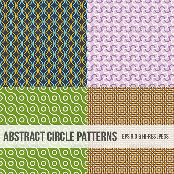 Abstract Circle Patterns - Backgrounds Decorative