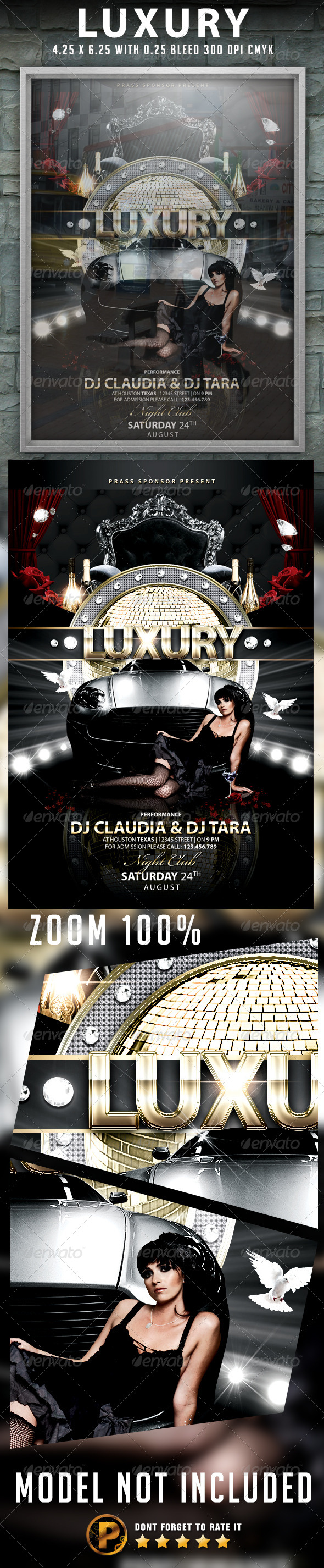 Luxury Flyer Template - Clubs & Parties Events