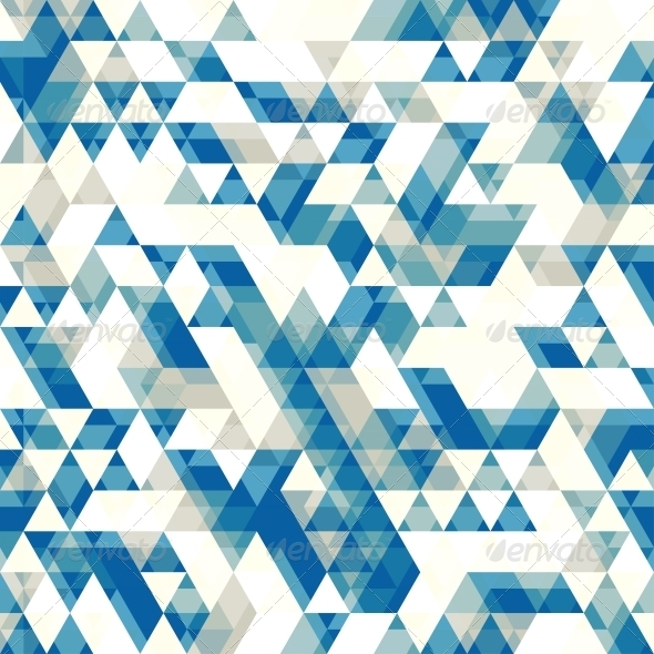 Retro Abstract Pattern with Triangles - Patterns Decorative