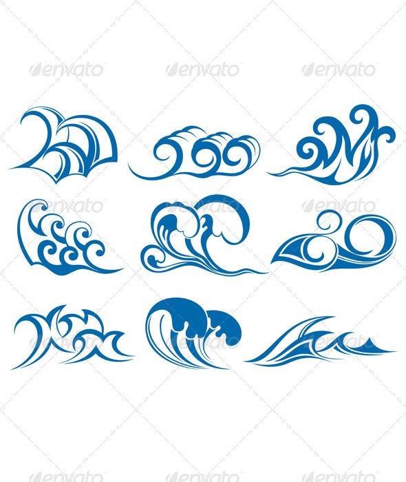Water Waves - Decorative Symbols Decorative