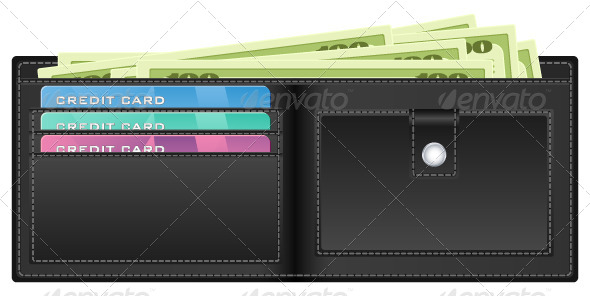 Black Wallet with Money - Business Conceptual