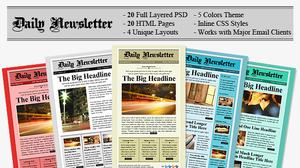 Free Download Daily Newsletter HTML Email Template Nulled Latest Version
