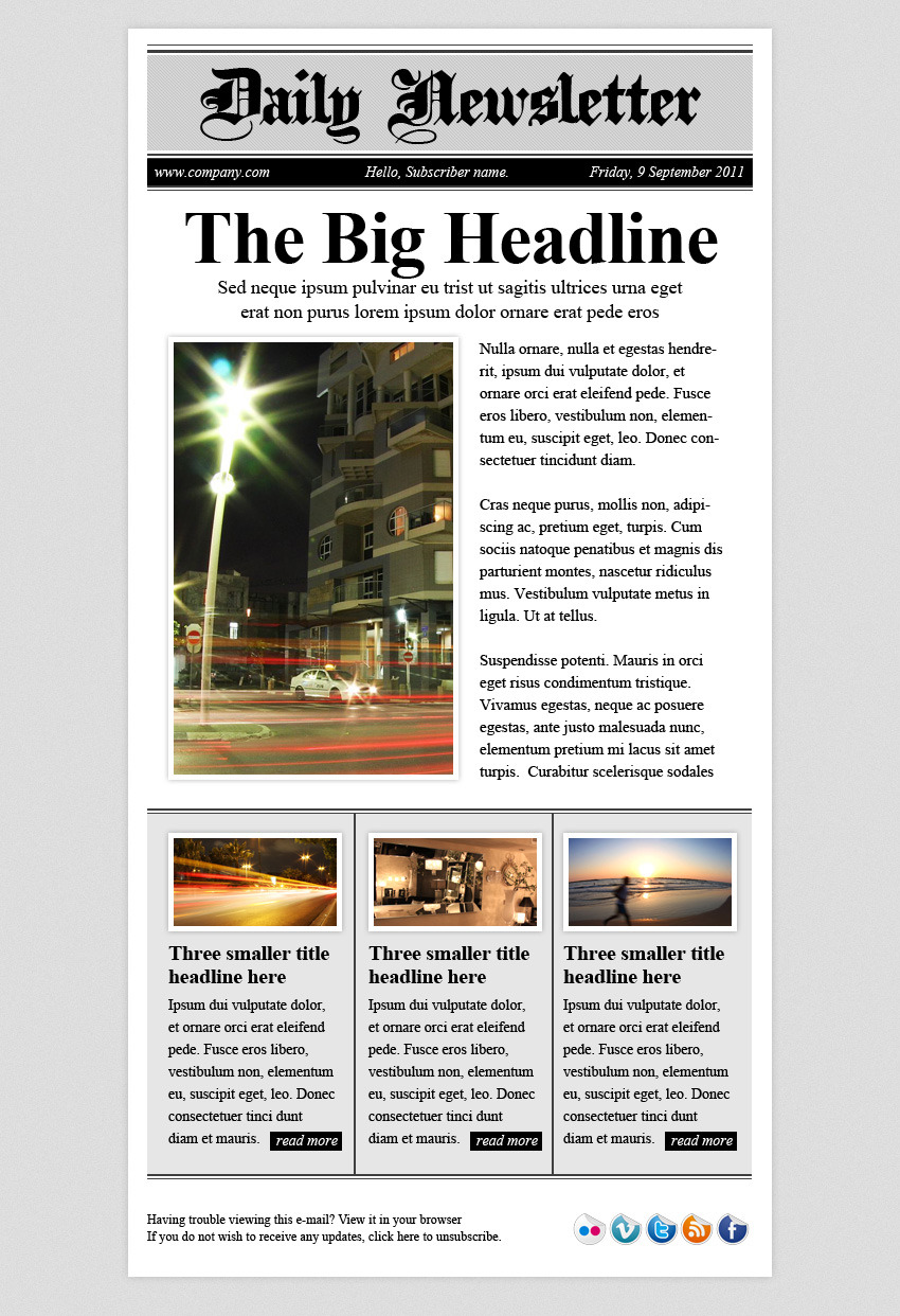 daily newsletter html email template by berber themeforest