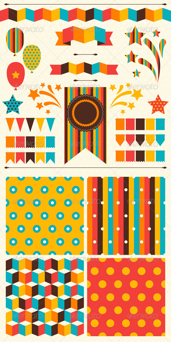 Collection of Decorations and Patterns for Holiday. - Birthdays Seasons/Holidays