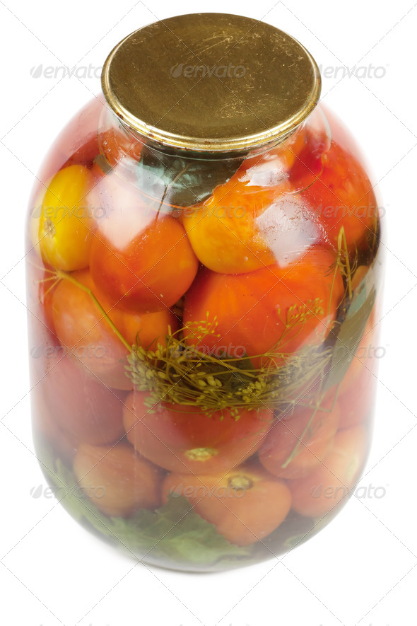 Jar of tomatoes - Stock Photo - Images