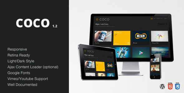 Coco – Clean & Minimal Portfolio/Blog Theme – WP