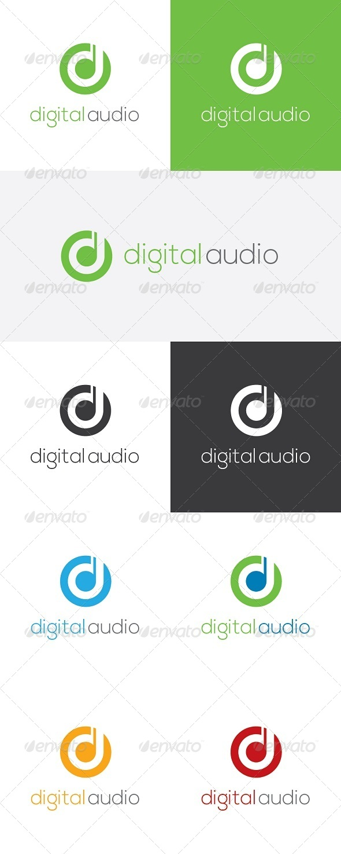 Digital Audio - Letters Logo Templates