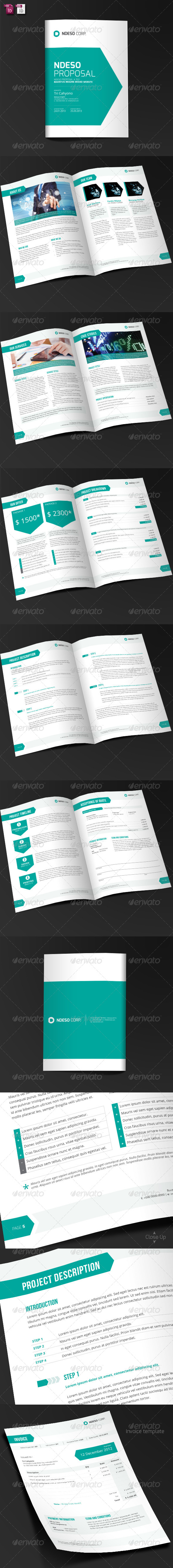Ndeso Proposal and Invoice Template - Proposals & Invoices Stationery