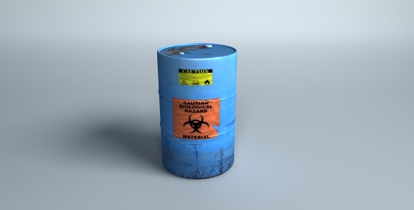 Toxic Waste Barrel - 3DOcean Item for Sale