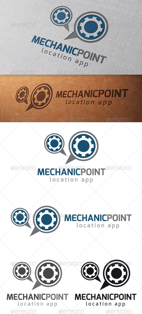 Mechanic Locator Logo Template - Symbols Logo Templates