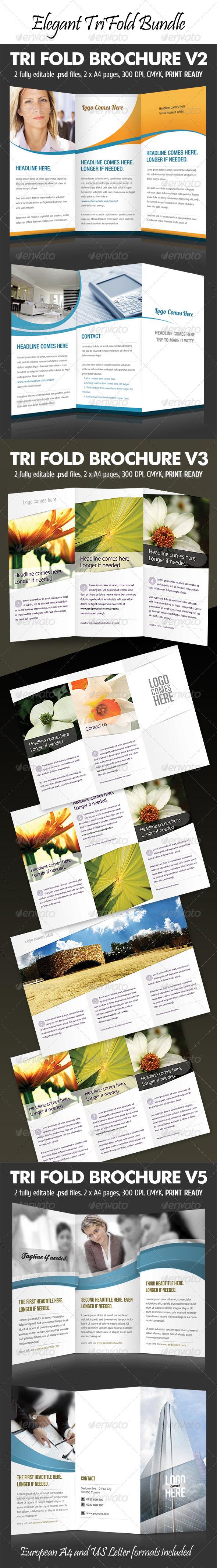 Elegant Tri-Fold Bundle - Corporate Brochures