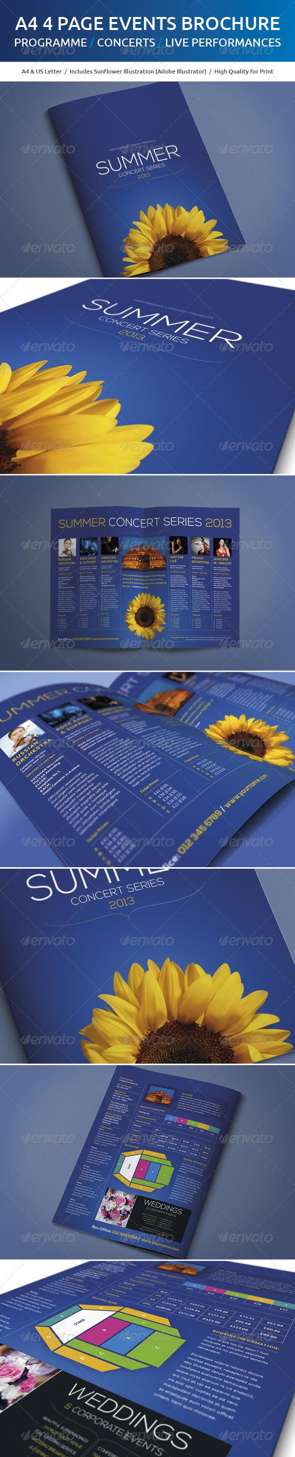 A4 Events Brochure - Brochures Print Templates