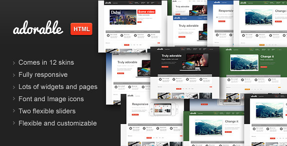 Adorable – Business Services Portfolio HTML theme