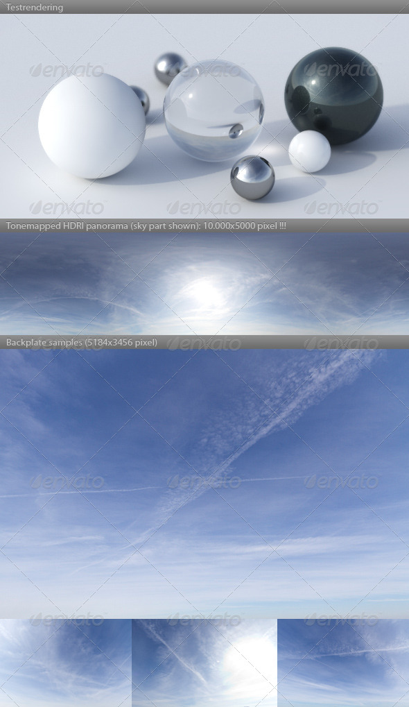 HDRI spherical sky panorama -1421- summer daylight - 3DOcean Item for Sale