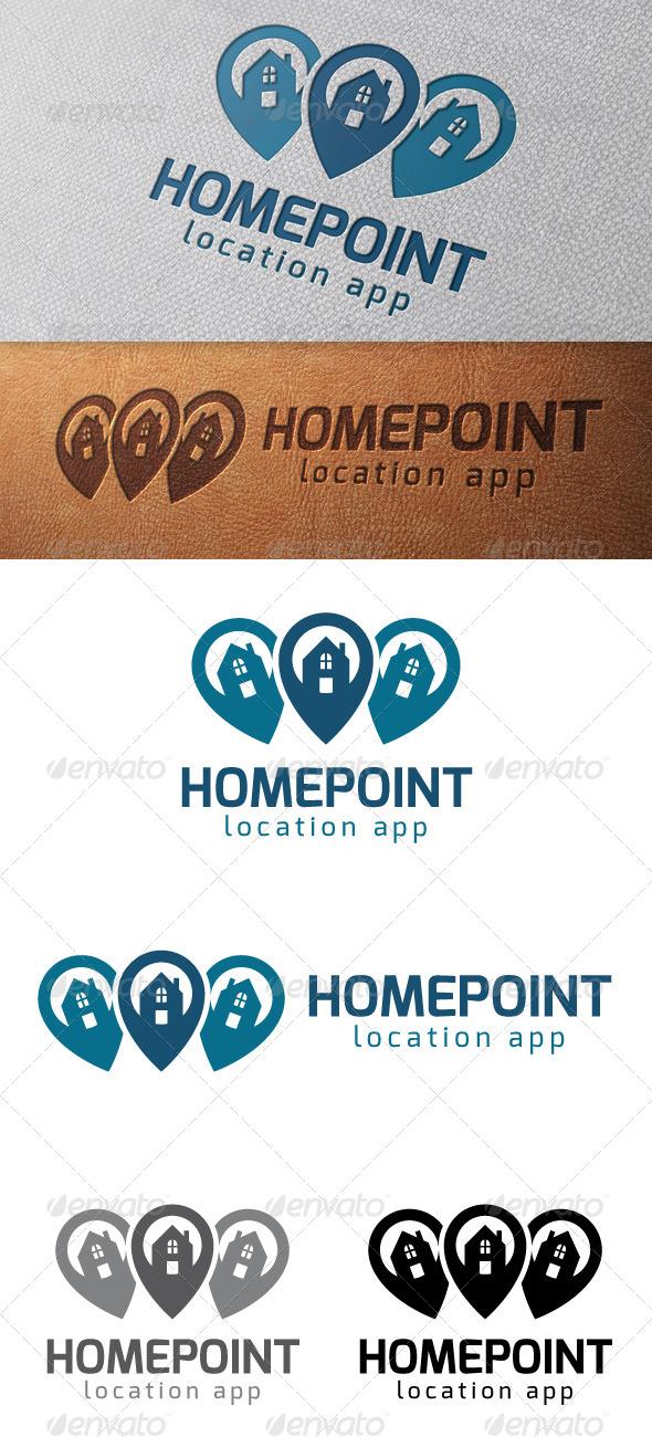 Real Estate Locator Logo Template - Buildings Logo Templates