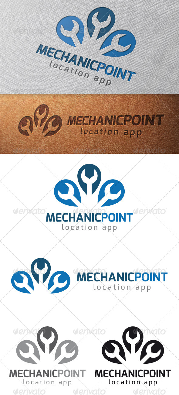 Mechanic Point Logo Template - Objects Logo Templates