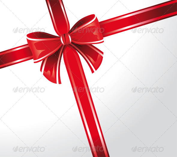 Red Bow - Backgrounds Decorative