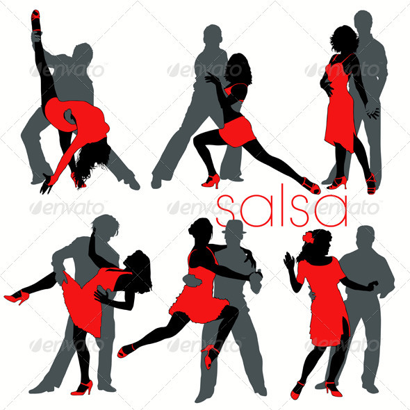 Salsa Dancers Set - People Characters