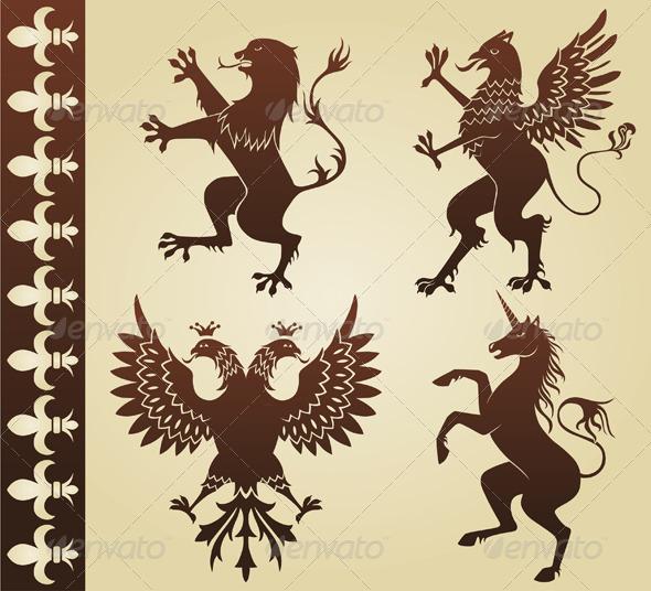 Heraldic Animals - Miscellaneous Vectors