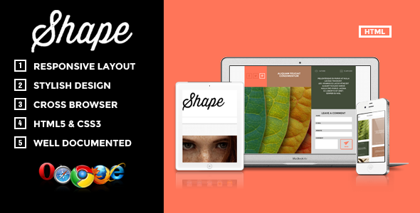Shape – Professional HTML Photography Theme