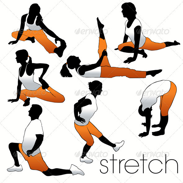 Stretch Aerobics Set - Sports/Activity Conceptual