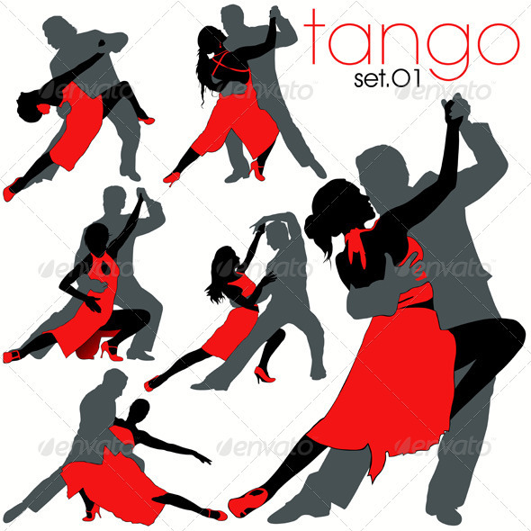 Tango Dancers Set - People Characters