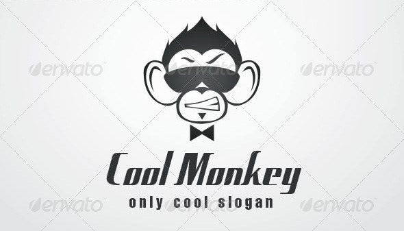 Cool Monkey Logo Template by Giunina | GraphicRiver