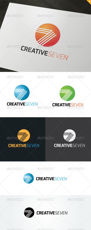 Creative Seven Logo - Numbers Logo Templates