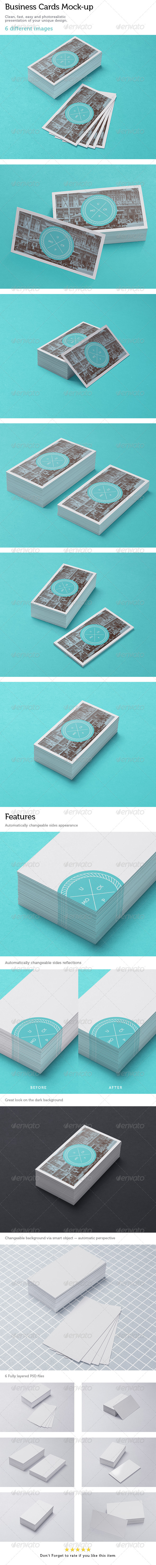 Business Cards Studio Mock-up 3 - Stationery Print