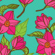 Floral Seamless Pattern with Magnolia  - GraphicRiver Item for Sale