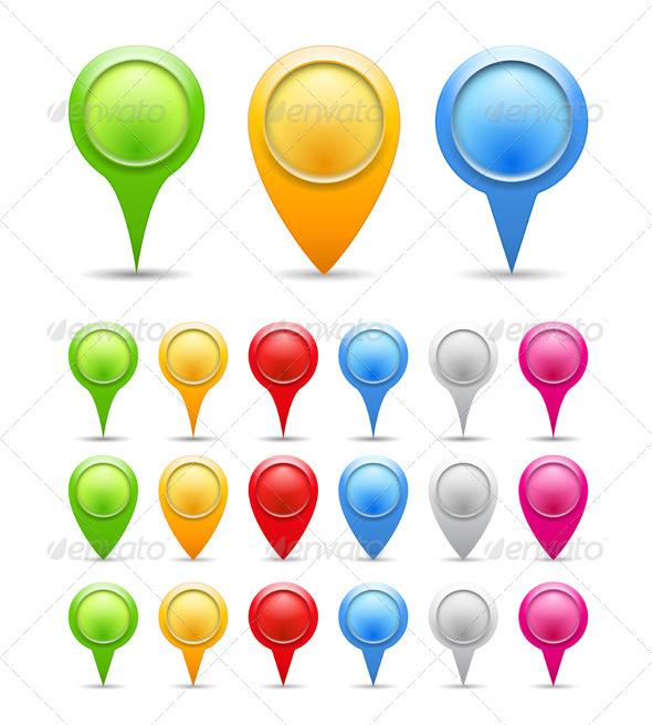 Map Markers - Miscellaneous Vectors