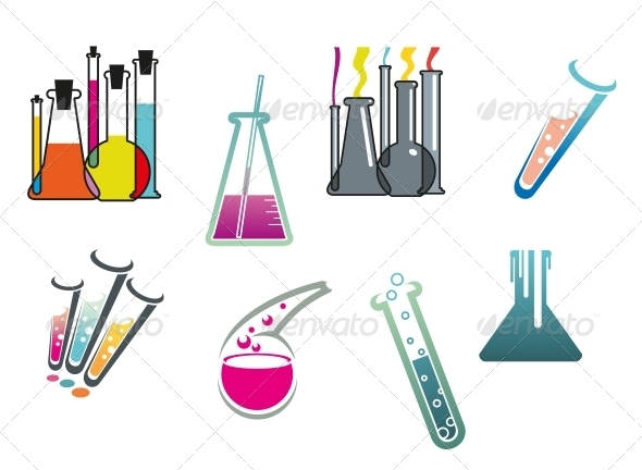 Laboratory and Test Tubes Set - Miscellaneous Vectors