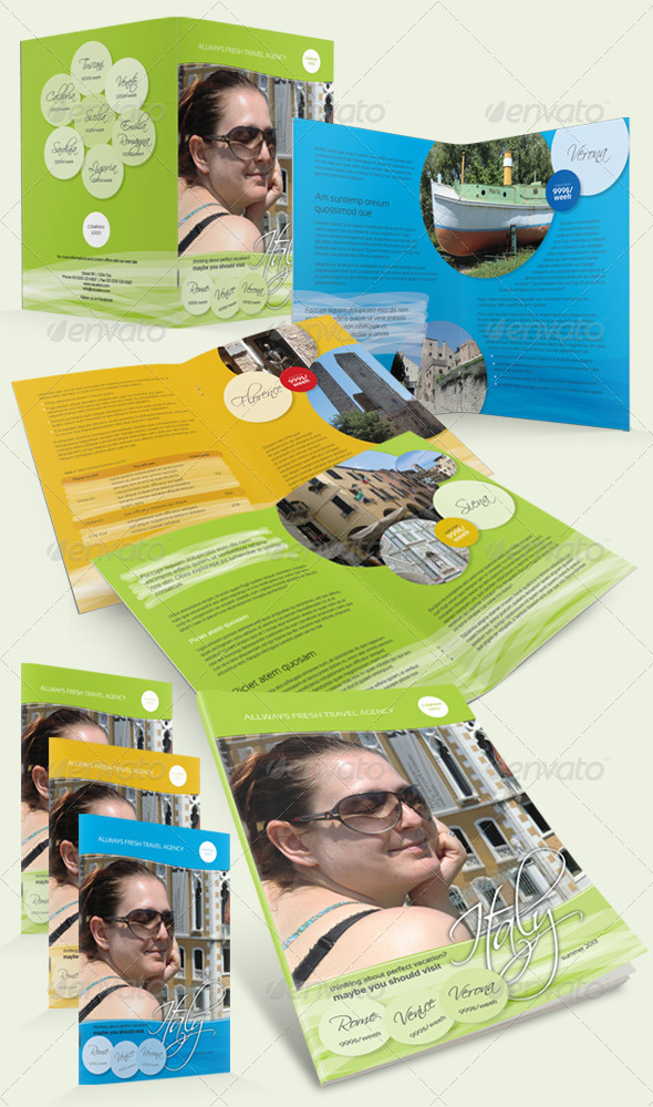 Holiday Travel Brochure - Brochures Print Templates