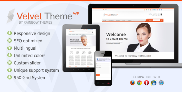 Velvet: Clean, Responsive WordPress Theme