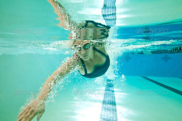 underwater woman - Stock Photo - Images