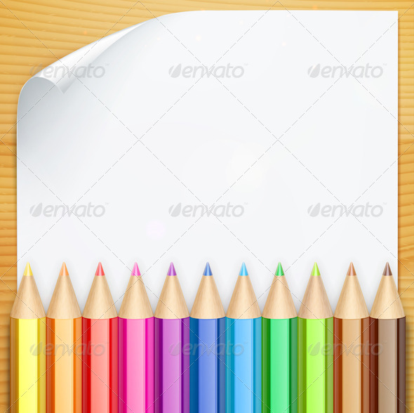 Color Pencils - Borders Decorative