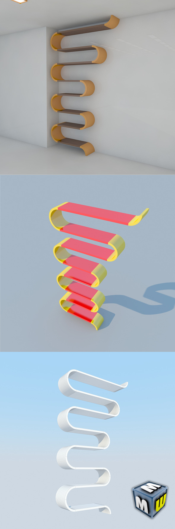 Bookshelf 8 MAX 2011 - 3DOcean Item for Sale