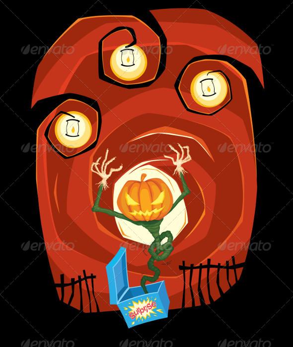 Jumping Jack O Lantern - Halloween Seasons/Holidays
