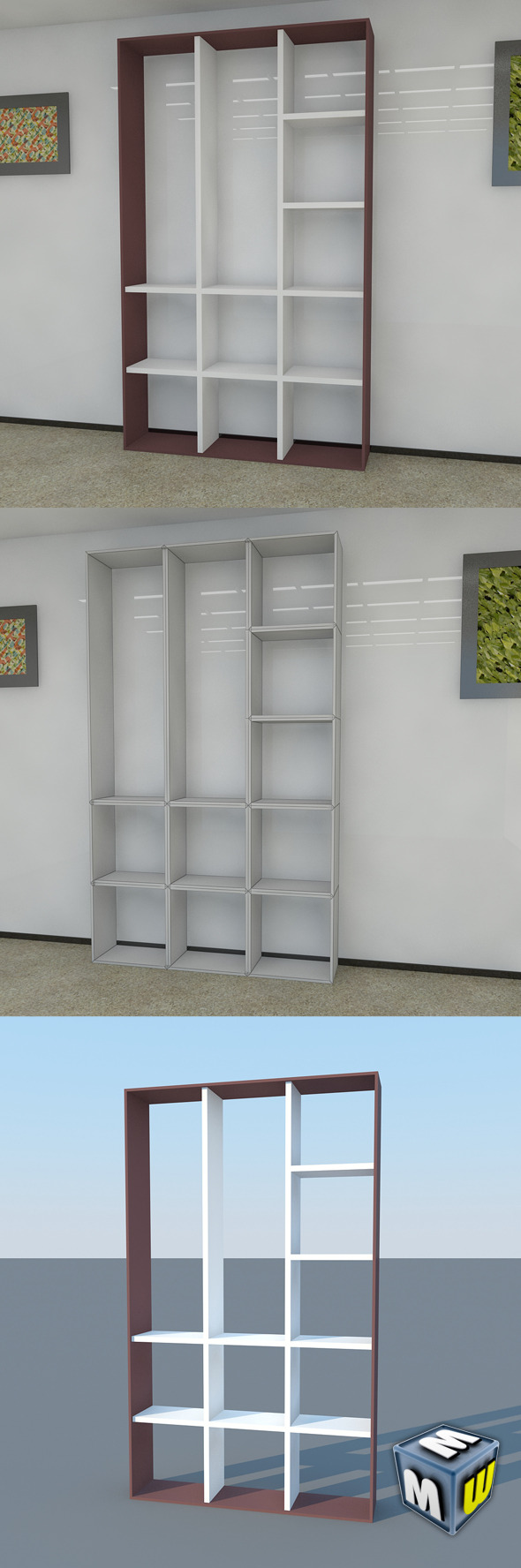 Bookshelf 15 MAX 2011 - 3DOcean Item for Sale