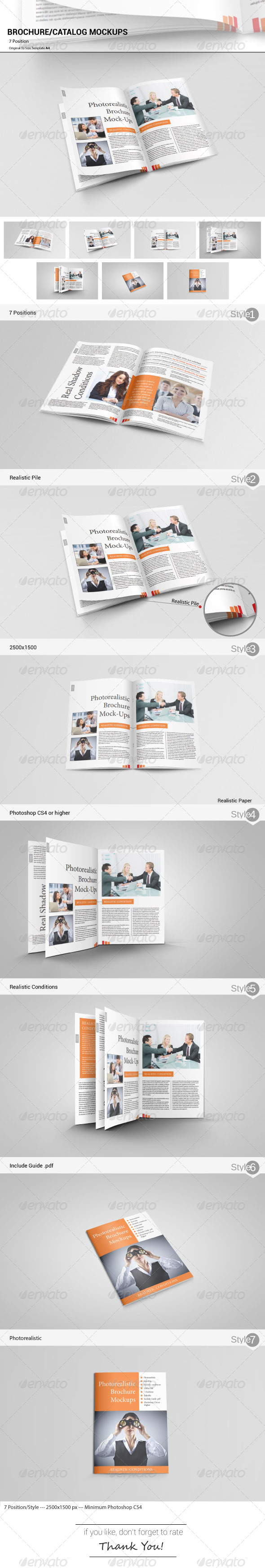 Catalog Brochure Mockups - Brochures Print