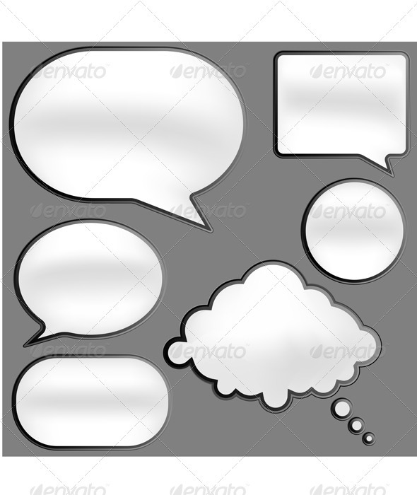 Speech Bubbles - Miscellaneous Vectors