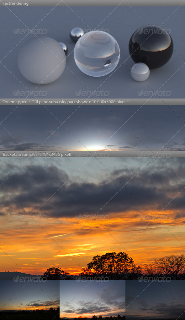 HDRI spherical sky panorama -1731- fall evening - 3DOcean Item for Sale