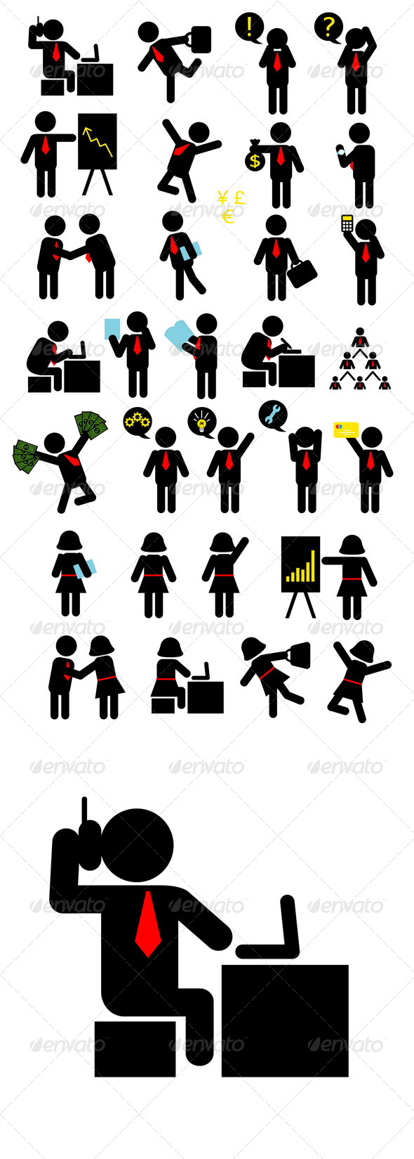 Business Pictogram Icons - People Characters