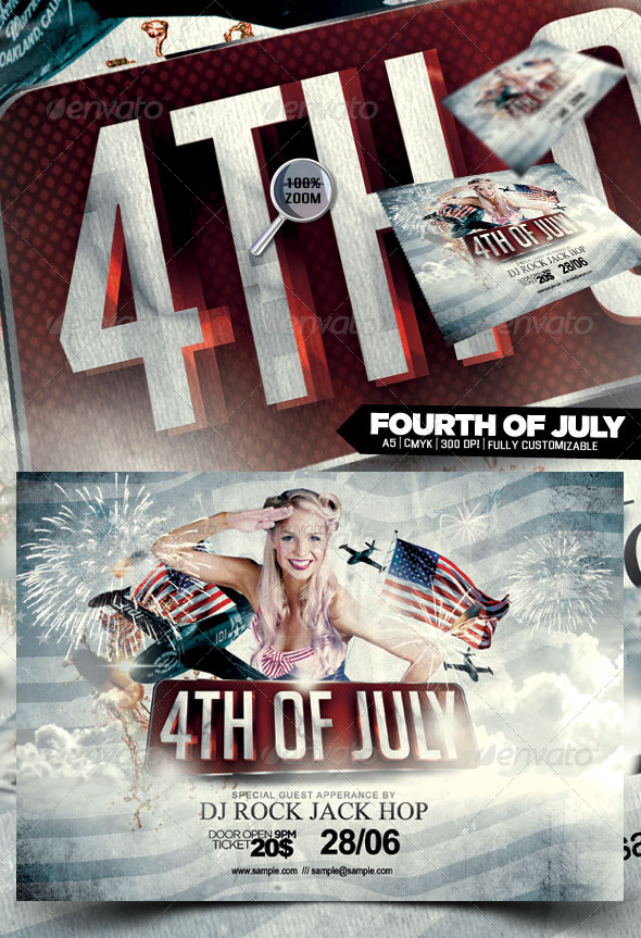 Fourth of July - Flyers Print Templates