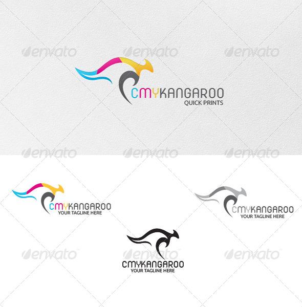 CMY-Kangaroo - Logo Template - Vector Abstract