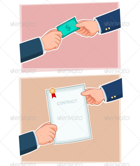 Businessman Exchanging - Concepts Business