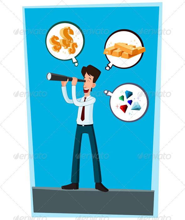 Businessman Observing - Concepts Business