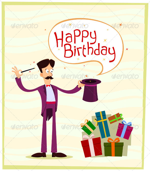 Magician Birthday Greeting - Birthdays Seasons/Holidays