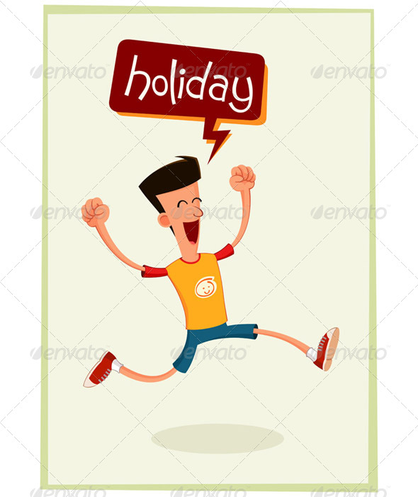 Young Man Having Fun At Holiday - Travel Conceptual